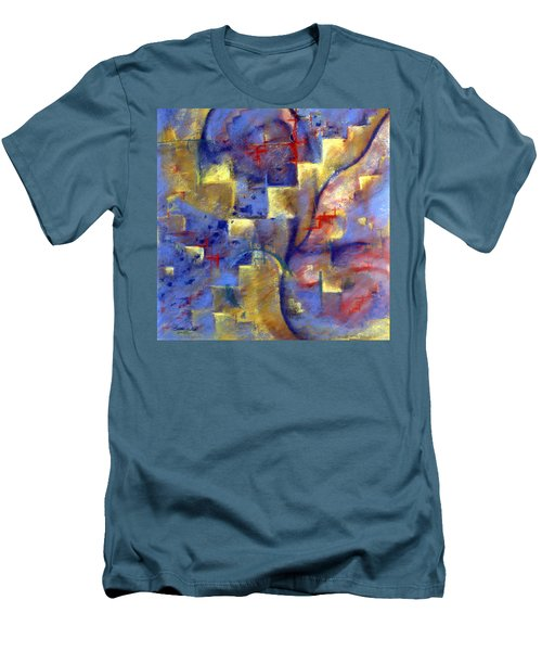 Staircases Men's T-Shirt (Athletic Fit)