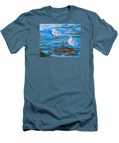 Sea Birds Wait Men's T-Shirt (Athletic Fit)
