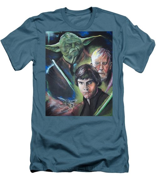 Men's T-Shirt (Slim Fit) featuring the pastel Star Wars Medley by Peter Suhocke