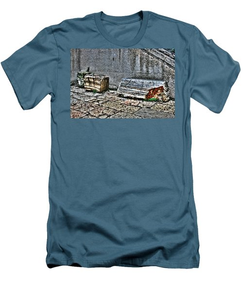 Men's T-Shirt (Slim Fit) featuring the photograph Holy Rocks In Israel by Doc Braham