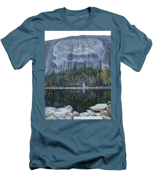 Stone Mountain - 2 Men's T-Shirt (Slim Fit) by Charles Hite