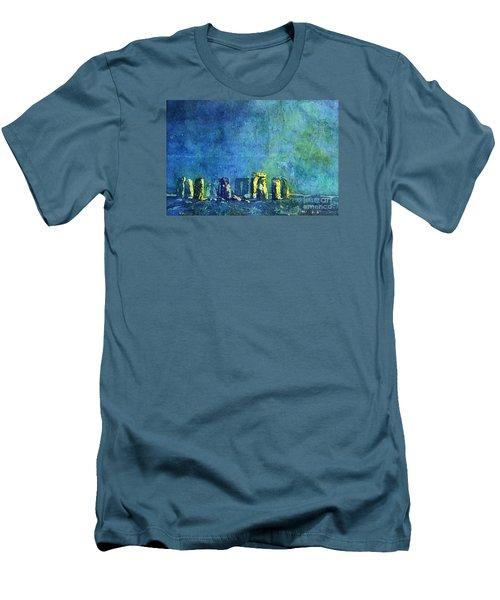 Stonehenge In Moonlight Men's T-Shirt (Slim Fit) by Ryan Fox