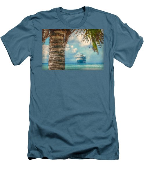 Stopover In Paradise Men's T-Shirt (Slim Fit) by Hanny Heim