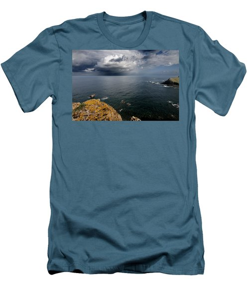 A Mediterranean Sea View From Sa Mesquida In Minorca Island - Storm Is Coming To Island Shore Men's T-Shirt (Athletic Fit)