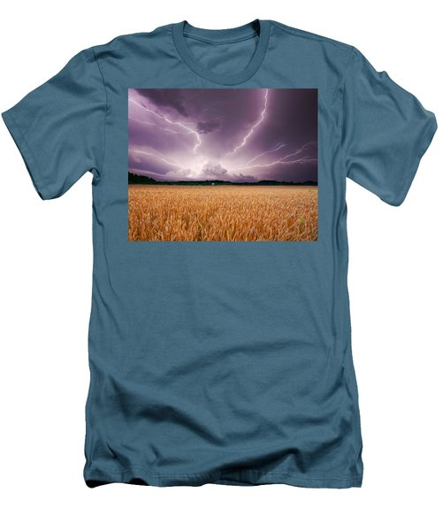 Storm Over Wheat Men's T-Shirt (Athletic Fit)