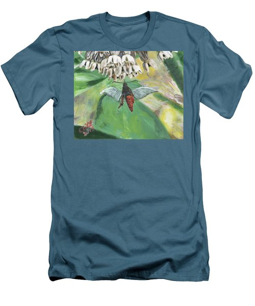 Strange Bug At Flowers Men's T-Shirt (Athletic Fit)