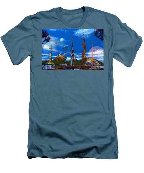 Men's T-Shirt (Slim Fit) featuring the photograph Strange Planet by Mark Blauhoefer