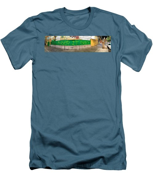 Street Scene - Mexico City Men's T-Shirt (Slim Fit) by Sean Griffin