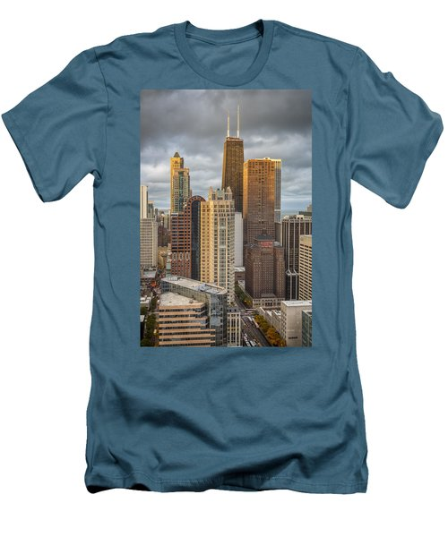 Streeterville From Above Men's T-Shirt (Slim Fit) by Adam Romanowicz