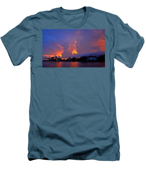 Strike Up The Middle At Sunset Men's T-Shirt (Slim Fit) by Jeff at JSJ Photography