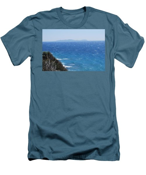Men's T-Shirt (Slim Fit) featuring the photograph Strong Mistral by George Katechis