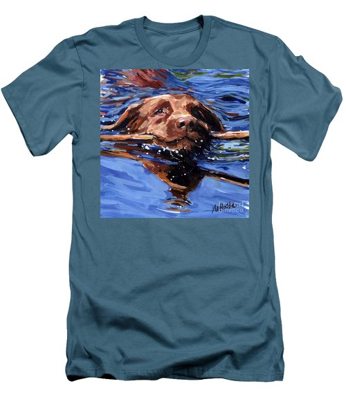 Strong Swimmer Men's T-Shirt (Slim Fit) by Molly Poole