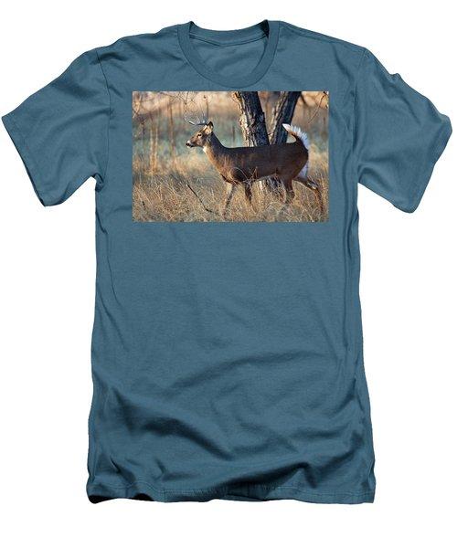 Men's T-Shirt (Slim Fit) featuring the photograph Strutting Buck by Jim Garrison