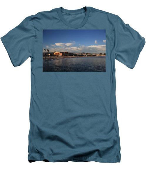 Summer Evenings In Santa Cruz Men's T-Shirt (Slim Fit) by Laurie Search
