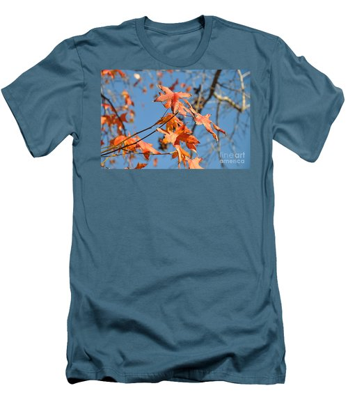 Summer Gold Leaf Men's T-Shirt (Athletic Fit)