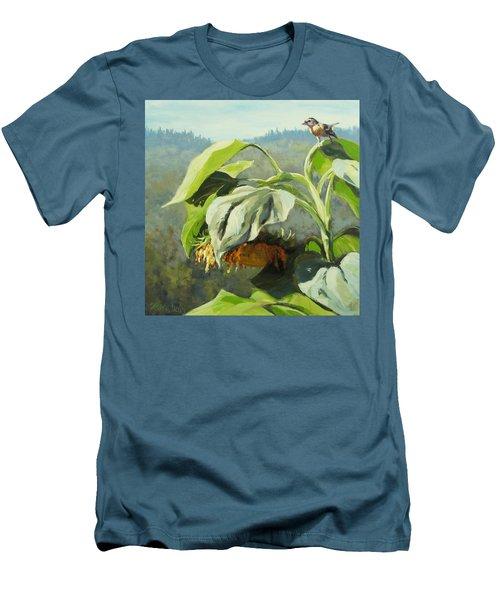 Men's T-Shirt (Slim Fit) featuring the painting Summer Sun by Karen Ilari