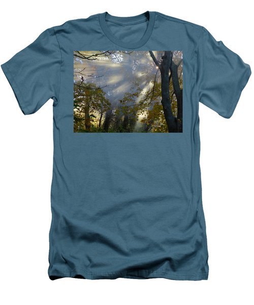 Men's T-Shirt (Slim Fit) featuring the photograph Sunbeam Morning by Dianne Cowen