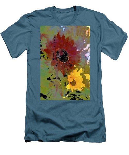 Sunflower 33 Men's T-Shirt (Slim Fit) by Pamela Cooper