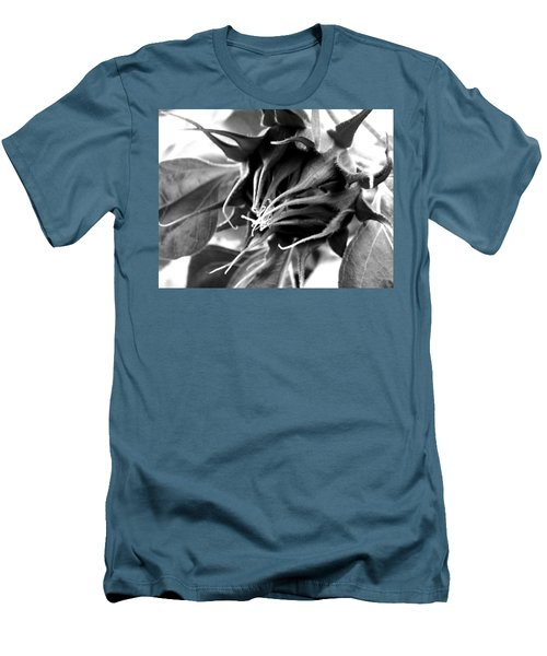 Men's T-Shirt (Slim Fit) featuring the photograph Sunflower Beginning by Sandi OReilly
