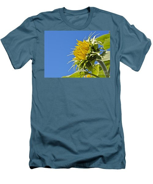 Men's T-Shirt (Slim Fit) featuring the photograph Sunflower by Linda Bianic