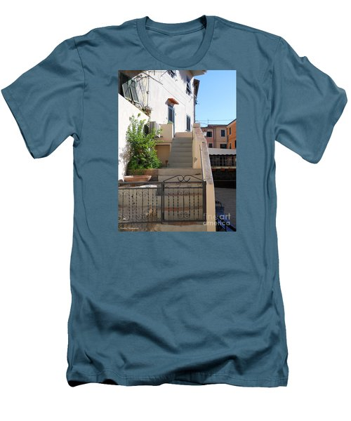 Men's T-Shirt (Slim Fit) featuring the photograph Sunny Tuscany Village by Ramona Matei