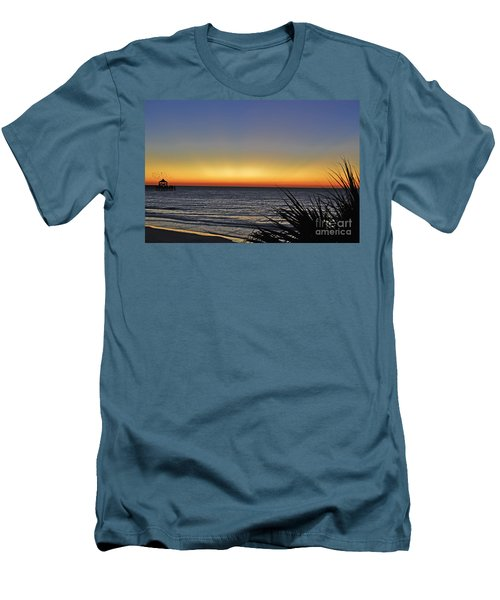 Sunrise At Folly Men's T-Shirt (Athletic Fit)