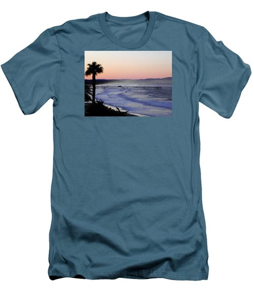 Men's T-Shirt (Slim Fit) featuring the photograph Sunrise At Pismo Beach by Kathy Churchman