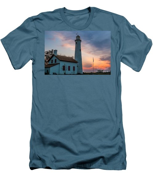 Men's T-Shirt (Slim Fit) featuring the photograph Sunrise At Sturgeon Point by Patrick Shupert