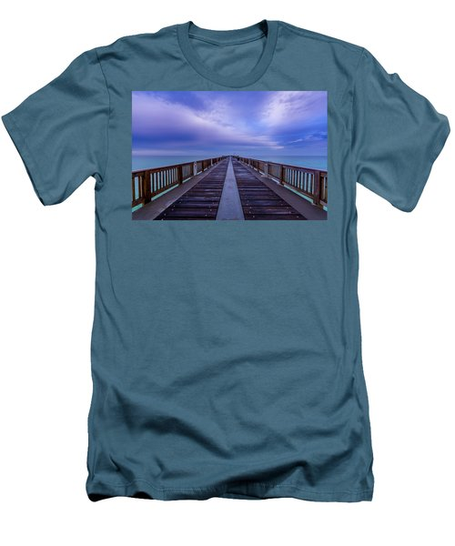Sunrise At The Panama City Beach Pier Men's T-Shirt (Athletic Fit)