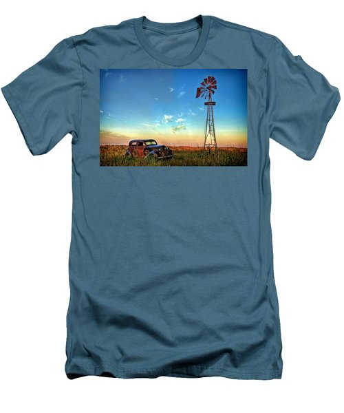 Men's T-Shirt (Slim Fit) featuring the photograph Sunrise On The Farm by Ken Smith