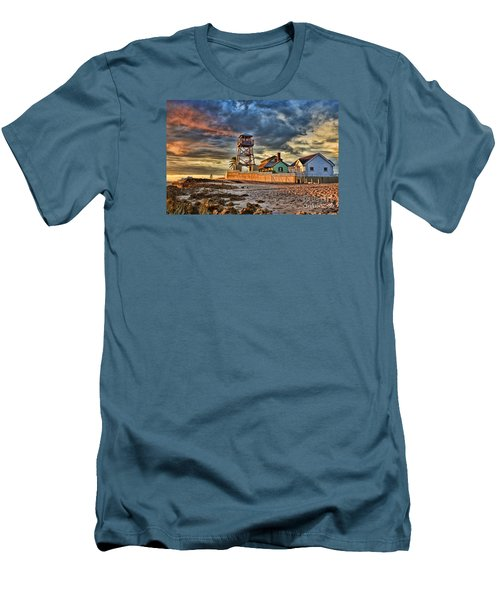 Sunrise Over The House Of Refuge On Hutchinson Island Men's T-Shirt (Athletic Fit)