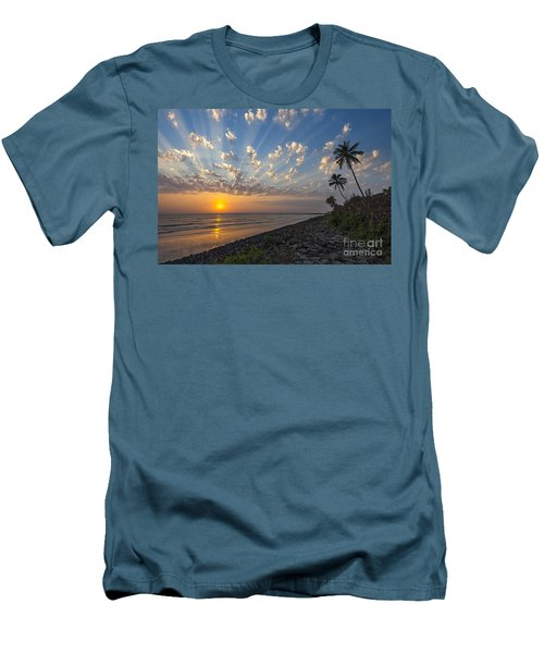 Sunset At Alibag, Alibag, 2007 Men's T-Shirt (Slim Fit) by Hitendra SINKAR