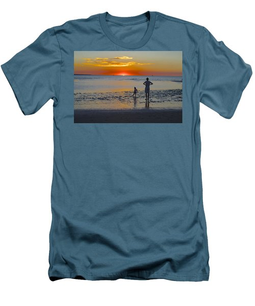 Sunset At Mindil Beach Men's T-Shirt (Slim Fit) by Venetia Featherstone-Witty