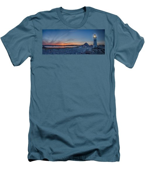 Sunset At Scituate Light Men's T-Shirt (Athletic Fit)