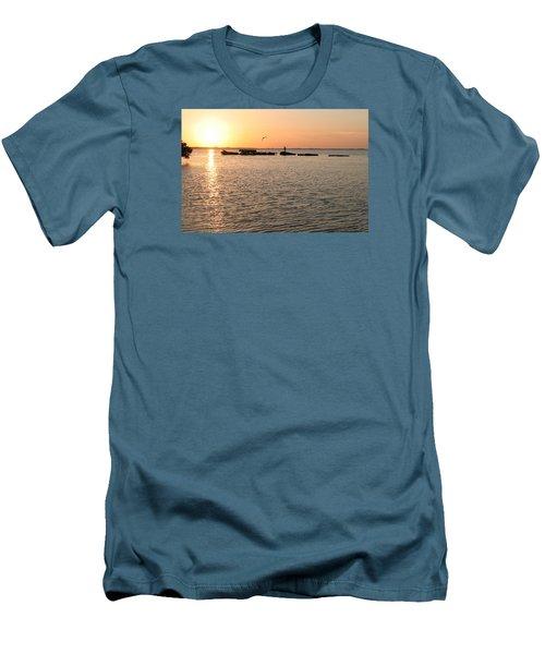 Sunset Fish Men's T-Shirt (Athletic Fit)