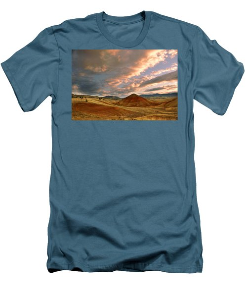 Men's T-Shirt (Slim Fit) featuring the photograph Sunset Hill by Sonya Lang