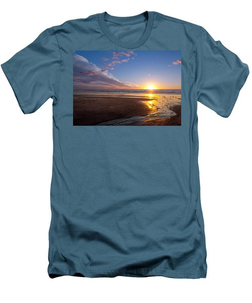 Sunset On The Beach At Carlsbad. Men's T-Shirt (Athletic Fit)