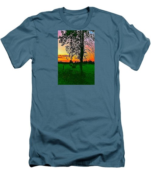 Men's T-Shirt (Slim Fit) featuring the photograph Sunset Over M-33 by Daniel Thompson