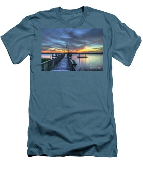 Sunset Over The River Men's T-Shirt (Athletic Fit)