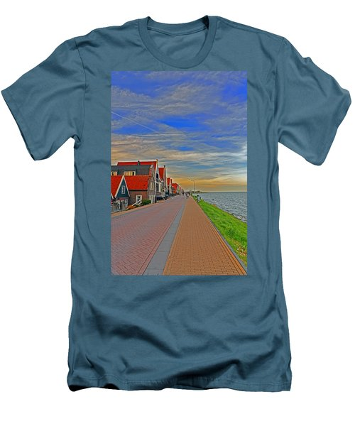 Sunset Over Volendam Men's T-Shirt (Athletic Fit)