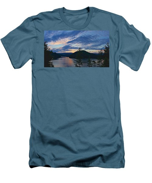 Sunset Pano - Watauga Lake Men's T-Shirt (Athletic Fit)