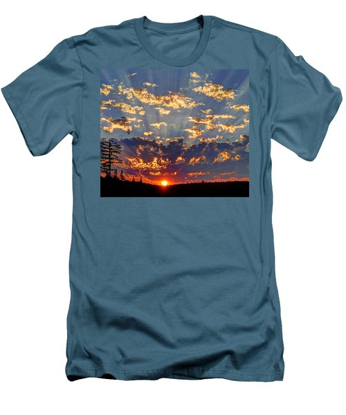 Sunset Spectacle Men's T-Shirt (Slim Fit) by Peter Mooyman