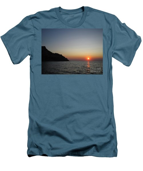 Men's T-Shirt (Slim Fit) featuring the photograph Sunset by Vicki Spindler