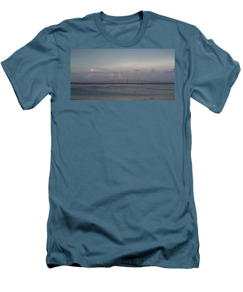 Sunshine Skyway Bridge Men's T-Shirt (Athletic Fit)