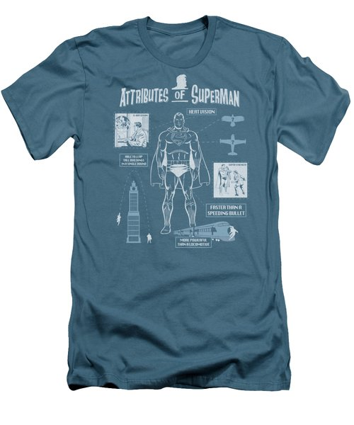 Superman - Super Diagram Men's T-Shirt (Athletic Fit)