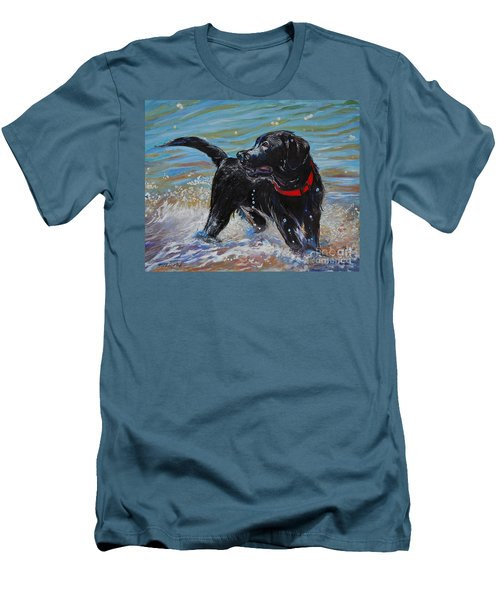 Surf Pup Men's T-Shirt (Slim Fit) by Molly Poole