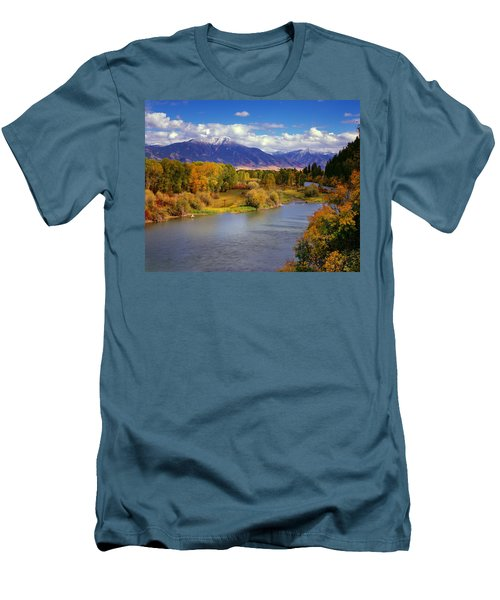 Swan Valley Autumn Men's T-Shirt (Slim Fit) by Leland D Howard