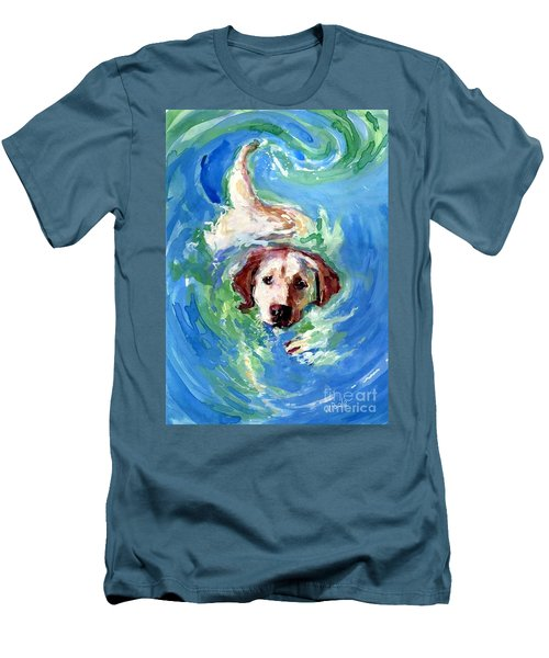 Swirl Pool Men's T-Shirt (Slim Fit) by Molly Poole