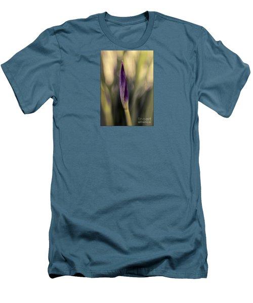 Siberian Iris Bud Men's T-Shirt (Slim Fit) by Jean OKeeffe Macro Abundance Art