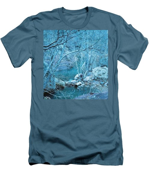 Men's T-Shirt (Slim Fit) featuring the photograph Sycamores And River by Kerri Mortenson